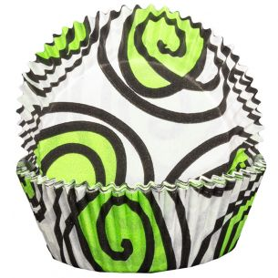 Green Swirly Cupcake Cases x60