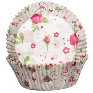 Floral Rose Cupcake Cases x60