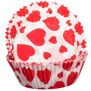Valentines Hearts Design Cupcake Cases x60