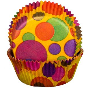 Bubbles Orange Cupcake Cases x60