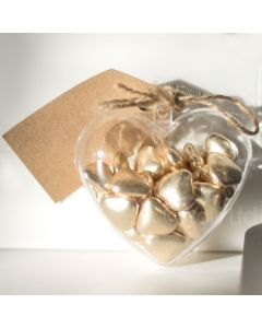 80mm Fillable Heart Shaped Gift Container x 1