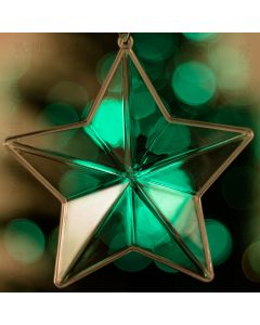 80mm Fillable Star Shaped Christmas Decoration x 1