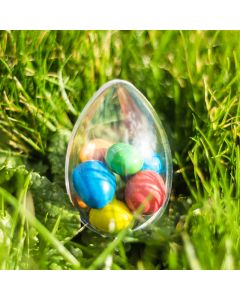 Clear Easter Egg Transparent Plastic Container 60mm