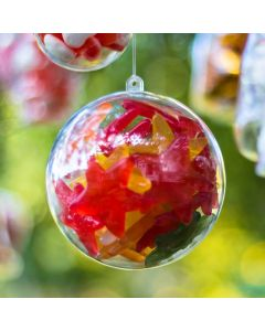 Fillable Clear Bauble (100mm)